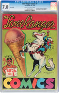 Golden Age (1938-1955):Western, Lone Ranger Comics #1 Second Version Poster Variant With OriginalShipping Envelope (Lone Ranger Inc., 1939) CGC FN/VF 7.0 Cre...