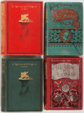 Books:Literature Pre-1900, G.A. Henty. Group of Four Books. Various publishers. 1890-1899.Publisher's cloth. One ex-library edition with usual marking...(Total: 4 Items)