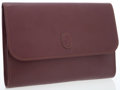 Luxury Accessories:Bags, Cartier Maroon Leather Must de Cartier Flap Clutch Bag with LeatherLogo. ...