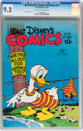 Golden Age (1938-1955):Cartoon Character, Walt Disney's Comics and Stories #21 (Dell, 1942) CGC NM- 9.2Off-white to white pages....
