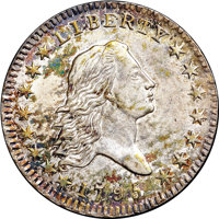 1795 50C Two Leaves MS62 NGC. CAC. O-102a, R.5....(PCGS# 6052)
