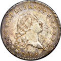 Early Half Dollars, 1795 50C Two Leaves MS62 NGC. O-130, Low R.5....
