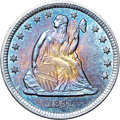 Seated Quarters, 1841 25C MS66 ★ NGC. CAC....