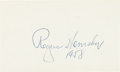 Autographs:Index Cards, 1958 Rogers Hornsby Signed Index Card....