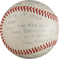Autographs:Baseballs, 1962 New York City Press Photographers Signed Baseball from TheStan Musial Collection....