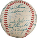Autographs:Baseballs, 1952 National League All-Star Team Signed Baseball from The StanMusial Collection....