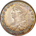 Bust Half Dollars, 1807 50C Large Stars, 50 Over 20 MS63 NGC. CAC. O-112, R.1....