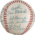 Autographs:Baseballs, 1954 St. Louis Cardinals Team Signed Baseball from The Stan MusialCollection....