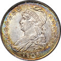 Bust Half Dollars, 1807 50C Capped Bust, Small Stars MS63 NGC. O-113, R.2....