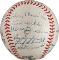 Autographs:Baseballs, 1944 St. Louis Cardinals Team Signed Baseball from The Stan Musial Collection....
