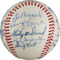 Autographs:Baseballs, 1961 St. Louis Cardinals Team Signed Baseball from The Stan MusialCollection....