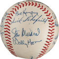 Autographs:Baseballs, 1957 St. Louis Cardinals Team Signed Baseball from The Stan Musial Collection....