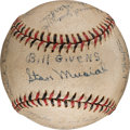 Autographs:Baseballs, 1940 Daytona Beach Islanders Team Signed Baseball with Musial, Dickie Kerr from The Stan Musial Collection....