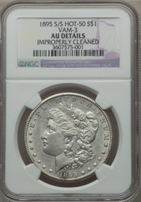 1895-S $1 S Over Horizontal S -- Improperly Cleaned -- NGC Details. AU. VAM-3....(PCGS# 134020)