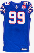 Football Collectibles:Uniforms, 2009 Marcus Stroud Game Worn, Unwashed Buffalo Bills Jersey - NFL Auction LOA....