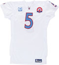 Football Collectibles:Uniforms, 2009 Kerry Collins Game Worn, Unwashed Tennessee Titans Jersey - NFL Auction LOA....