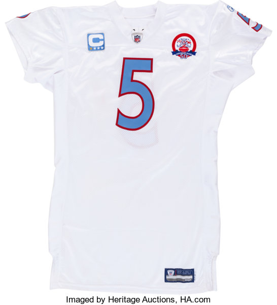 100% authentic d3654 d0aff 2009 Kerry Collins Game Worn, Unwashed Tennessee Titans ...