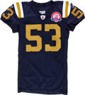 Football Collectibles:Uniforms, 2009 Larry Izzo Game Worn, Unwashed New York Jets Jersey - NFL Auction LOA....