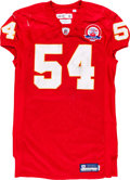 Football Collectibles:Uniforms, 2009 Brian Waters Game Worn, Unwashed Kansas City Chiefs Jersey - NFL Auction LOA....