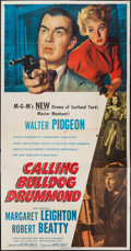 "Movie Posters:Mystery, Calling Bulldog Drummond (MGM, 1951). Three Sheet (41"" X 79"").Mystery.. ..."