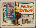 "Movie Posters:Bad Girl, Live Fast, Die Young (Universal International, 1958). Half Sheet(22"" X 28""). Bad Girl.. ..."