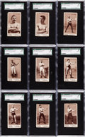 """Boxing Cards:General, 1895 N310 Mayo Cut Plug Boxers SGC Encapsulated Complete Set (35) -All """"Name at Top"""" Variations. ..."""