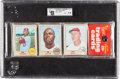 Baseball Cards:Unopened Packs/Display Boxes, 1968 Topps Baseball Rack Pack GAI NM+ 7.5. ...