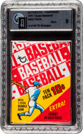 Baseball Cards:Unopened Packs/Display Boxes, 1971 Topps Baseball 6th Series Wax Oddity GAI Mint 9 In 1970Wrapper....
