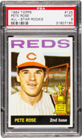 Baseball Cards:Singles (1960-1969), 1964 Topps Pete Rose #125 PSA Mint 9 - None Higher. ...