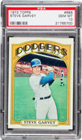Baseball Cards:Singles (1970-Now), 1972 Topps Steve Garvey #686 PSA Gem Mint 10....