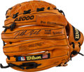 Baseball Collectibles:Others, 2004 Jonathan Papelbon Game Used Signed Fielder's Glove. ...