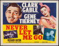 """Movie Posters:Adventure, Never Let Me Go (MGM, 1953). Half Sheet (22"""" X 28"""") Style B.Adventure.. ..."""