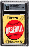 Baseball Cards:Unopened Packs/Display Boxes, 1963 Topps Baseball 2nd/3rd Series 5-cent Wax Pack GAI Gem Mint9.5! ...