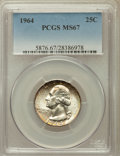 Washington Quarters, 1964 25C MS67 PCGS....