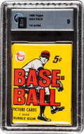 Baseball Cards:Unopened Packs/Display Boxes, 1968 Topps Baseball 1st Series Wax Pack GAI Mint 9. ...