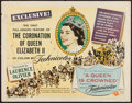 """Movie Posters:Documentary, A Queen is Crowned (Universal, 1953). Half Sheet (22"""" X 28""""). Documentary.. ..."""