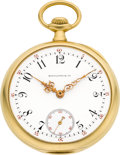 Timepieces:Pocket (post 1900), Patek Philippe Fine Gold Watch For Spaulding & Co., circa 1908. ...