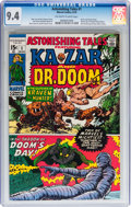 Bronze Age (1970-1979):Superhero, Astonishing Tales #1 Ka-Zar and Dr. Doom (Marvel, 1970) CGC NM 9.4 Off-white to white pages....