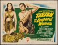 "Movie Posters:Adventure, Tarzan and the Leopard Woman (RKO, 1946). Half Sheet (22"" X 28"")Style A. Adventure.. ..."