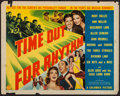 "Movie Posters:Comedy, Time Out for Rhythm (Columbia, 1941). Half Sheet (22"" X 28"") StyleA. Comedy.. ..."