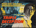 "Movie Posters:Crime, Triple Deception (Rank, 1956). British Half Sheet (22"" X 28""). Crime.. ..."