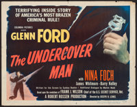 "The Undercover Man (Columbia, 1949). Half Sheet (22"" X 28"") Style A. Crime"