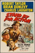 """Movie Posters:War, Stand By for Action (MGM, 1943). One Sheet (27"""" X 41"""") Style D.War.. ..."""