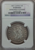 Bust Half Dollars: , 1807 50C Large Stars, 50 Over 20 -- Improperly Cleaned -- NGCDetails. VF. NGC Census: (18/1217). PCGS Population (31/332)....