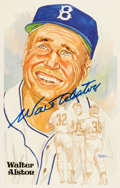 Autographs:Post Cards, 1983-84 Walter Alston Signed Perez-Steele Postcard. ...
