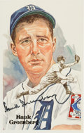 Autographs:Post Cards, 1980 Hank Greenberg Signed Perez-Steele Postcard. ...