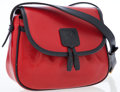 Luxury Accessories:Bags, Celine Red & Navy Leather Crossbody Messenger Bag with Tassel....