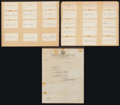 Baseball Collectibles:Others, 1941 Philadelphia Athletics Team Signed Cards With Connie MackSigned Letter. ...