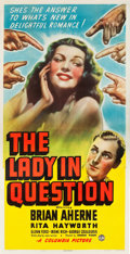 "Movie Posters:Drama, The Lady in Question (Columbia, 1940). Three Sheet (41.5"" X80.5"").. ..."