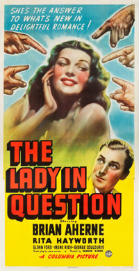 """The Lady in Question (Columbia, 1940). Three Sheet (41.5"""" X 80.5"""")"""